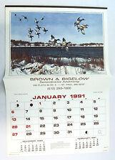 Vintage 1991 2013 David Maass Wildfowl Calendar 2 MATCHES 2013 CALENDAR