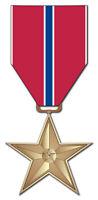 "Bronze Star 3.8"" Window Sticker / Decal 'Officially Licensed'"