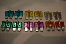 LED STANDARD BLADE CAR FUSES(15A/20A/25A/30A/35A/40A)2 OF EACH-(12)GLOW BLOW