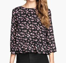 H&M Blouse Floral Tops & Shirts for Women
