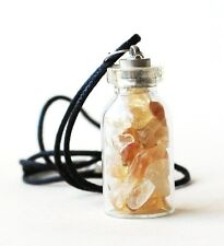*SALE* CLEARANCE REIKI CHARGED CITRINE GEMSTONE CRYSTAL STONES  BOTTLE PENDANT