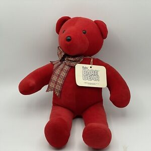 """North American Bear Co - 15"""" Plush Toy 1985 Red Baby Bear Bare with Tag"""