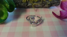 New 2 Cute Mom Baby Cats Ring 925 Sterling Silver * Size 5.5 , 7 & 7.25 *B279