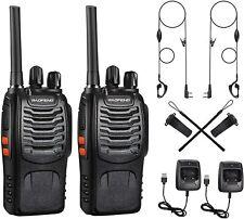 2x Walkie Talkie Handfunkgerät mit Headset Sprechfunkgeräte BF-888S Baofeng Set