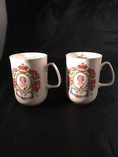 2 x Queen Elizabeth's Golden Jubilee Mugs 2002 Just Mugs Fine Bone China