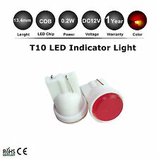 2X Red COB LED T10 194 2825 168 158 Inverted Side wedge light bulbs Brand New