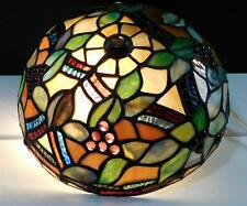 Tiffany Style Stained Glass Flush Mount Ceiling Light or Table lamp Shade