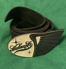 Vtg Mens Leather Belt With Hahne & Co Buckle