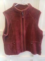 Woolrich Sandy Ridge Vest Zip Front Black Cherry Heather Red Womens Xlarge XL