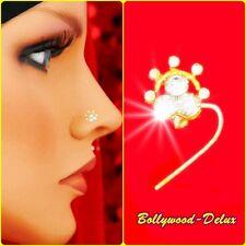 Bollywood Strass Nasenstecker Nasen Piercing Ethnik Indien Nose Pin Model N-33