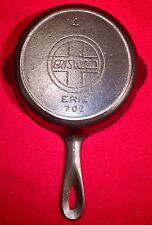 Griswold Cast Iron # 4 Skillet **Slant Erie Logo **