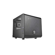 Thermaltake Core V1 Mini-Tower Mini-ITX Gehäuse schwarz mit Sichtfenster