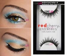 1 Pair AUTHENTIC RED CHERRY Lash #600 Delaney False Eyelashes Human Hair Lashes