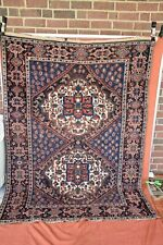 Antique Persian Tribal Rug Qashgai 4.7x6.3 nice colors