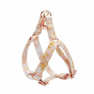 Luxury Rose Gold Marble Dog Step In Harness Leash Adjustable Wedding Harnesses