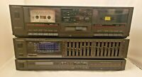 LOT OF 3 VINTAGE Technics Stereo Gear Graphic Equalizer, Radio Tuner, Tape Deck!