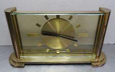 Antike mechanische Tischuhr Uhr Buffetuhr Glas + Messing Art Deco Uhr ~ 20er