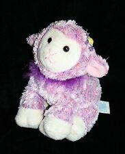 "Kids Preferred EASTER LAMB 7"" Tie Dye Purple Feather Boa Pink Silky Plush Soft"