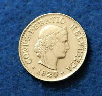 1920 Switzerland 5 Rappen - Fantastic Old Coin