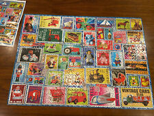 Barbara Behr Ceaco Jigsaw Puzzle Toy Stamps Used Once, Complete