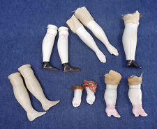 lot of Antique china shoulder head Doll Parts arms legs hands Germany