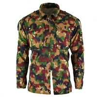 Original Swiss army jacket M83 combat field Alpenflage Camo Jacket shirt zipped