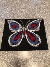 """VINTAGE 1960-70 """"BUTTERFLY"""" STRING/NAIL WALL ART"""