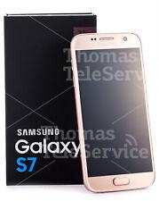 Samsung Galaxy S7 G930f Pink Gold Rosa Rosegold Smartphone Handy Android NEU OVP