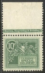 U.S. #E7 Mint NH - 1908 10c Green, Special Delivery ($140)