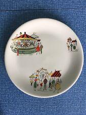 Vintage Alfred Meakin 8 Inch Side Plate in Carousel Pattern