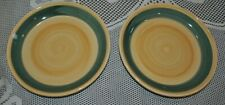 "FURIO HOME Set/2 Pasta Salad Bowl Hand painted Italy 8""D Yellow Olive"