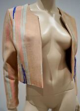 ISSA Rust Blue Pink & Navy Abstract Stripe Pattern Long Sleeve Blazer Jacket M