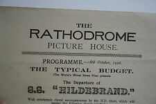RATHDROME PICTURE HOUSE DUBLIN ? LIVERPOOL ? 1926 SS HILDEBRAND GOLF FAULTS !