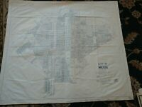 """Huge city map of Mexia, Texas (1970) 40""""x 35"""""""