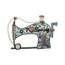 ID 7547 Sewing Machine I Heart Sewing Iron On Embroidered Patch Applique