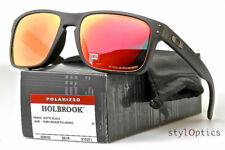 NewBox Polarized Holbrook¹OAKLEY¹Matte Black/Rubby Iridium Sunglasses