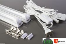 2x 4ft 20watt CLEAR LED Tube Light with integrated fixture with 6ft Power cable