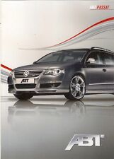 Volkswagen Passat Estate ABT Tuning 2009 UK Market Foldout Sales Brochure Estate