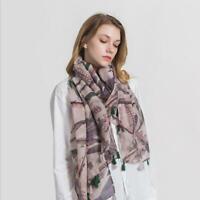 Women's Desigual Long Scarves Soft Cotton Wrap Shawl Chiffon Scarf Neck Stole W