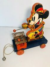 Vtg. Fisher Price Disney Mickey Mouse Zilo #798 First Version 1939 Rare Pull Toy