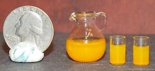 Dollhouse Miniature Orange Juice Set Pitcher 1:12 inch scale H19 Dollys Gallery