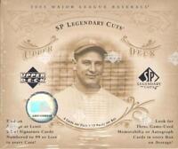 2005 Upper Deck SP Legendary Cuts Baseball - Pick A Player