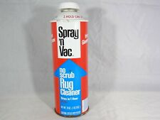 Vintage Can of Spray 'n Vac No Scrub Rug Cleaner from Glamorene