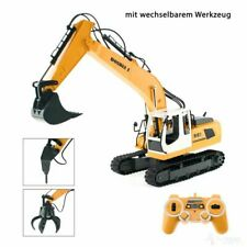 RC Bagger Baustellenfahrzeug Ferngesteuert, Schaufel, Greifer, Presslufthammer