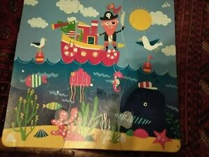 Floor Play Mat  Children's Pirate + Sea l Puzzle Interlocking EVA Foam 30*30*9cm