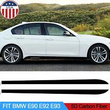 2Pcs Carbon Fiber Sticker Side Skirt Sill Decal for BMW E90 E92 E39 F10 F30 F31