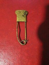 Militaria - Antique Brass Laundry Pin