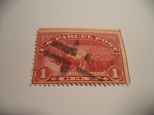 (119) 1913 1 CENT PARCEL POST WITH VERTICAL and HORIZONTAL GUIDE LINES