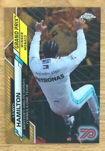 2020 TOPPS CHROME FORMULA 1 F1 LEWIS HAMILTON 70th GOLD REFRACTOR #138 *READ*