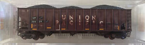N scale 100 Ton 3 Bay Open Hopper Rib Side weathered Union Pacific 36929 MTL